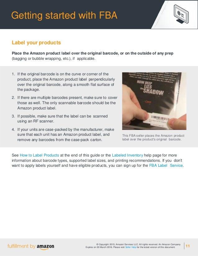 FBA Amazon quick start guideline