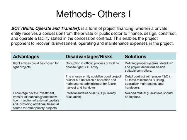 design build operate advantages disadvantages