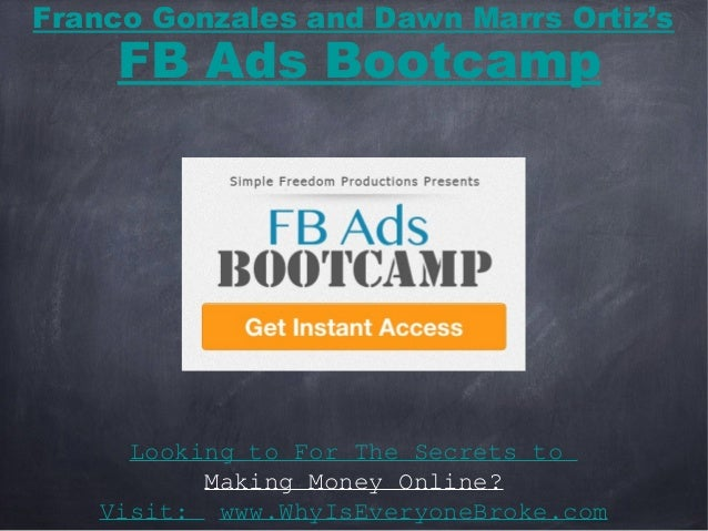 Looking to For The Secrets toMaking Money Online?Visit: www.WhyIsEveryoneBroke.comFranco Gonzales and Dawn Marrs Ortiz'sFB...