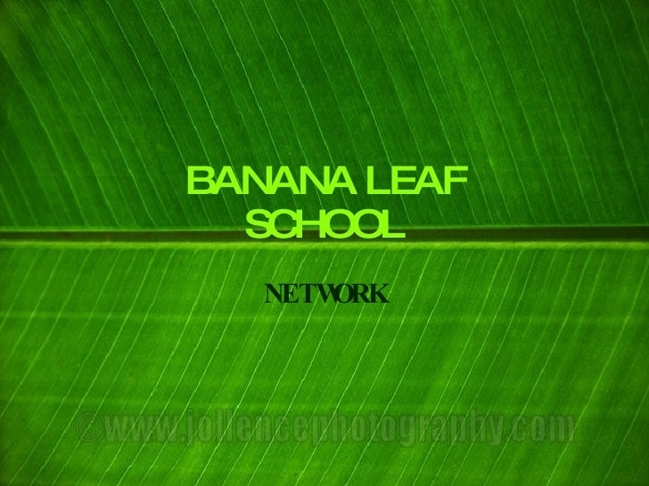 BANANA LEAF   SCHOOL    NETWORK