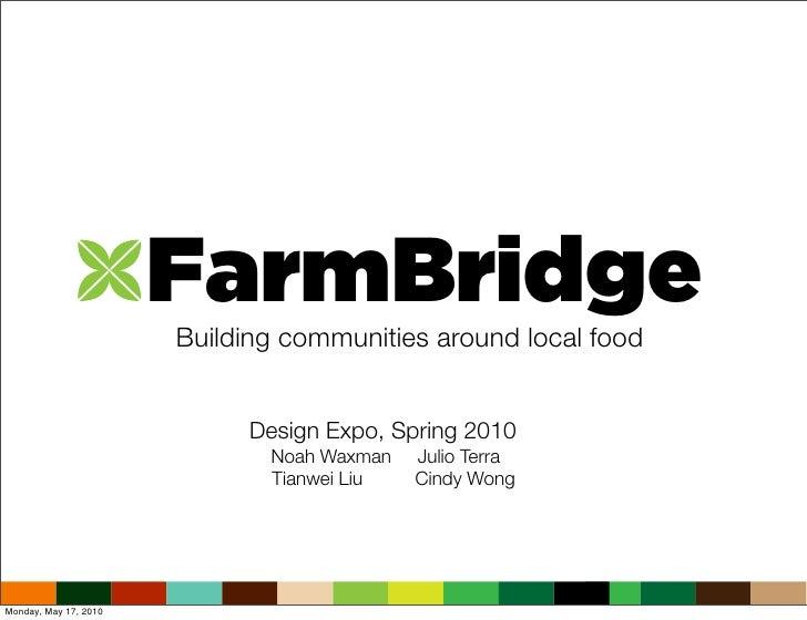 FarmBridge                        Building communities around local food                               Design Expo, Spring...