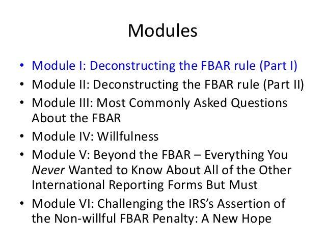 Demystifying The Fbar