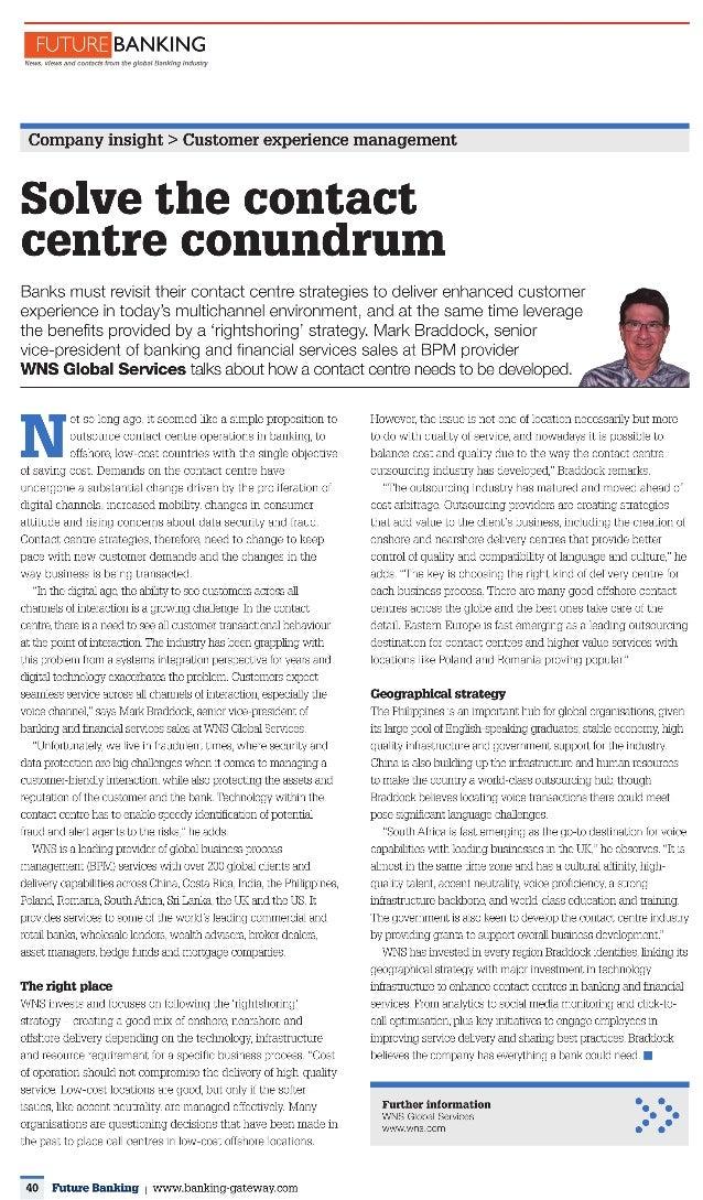 Solving the Contact Center Conundrum - Mark Braddock