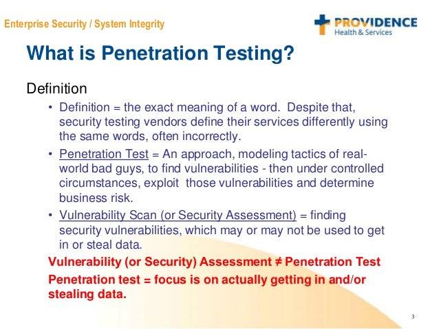 Penetration testing definition