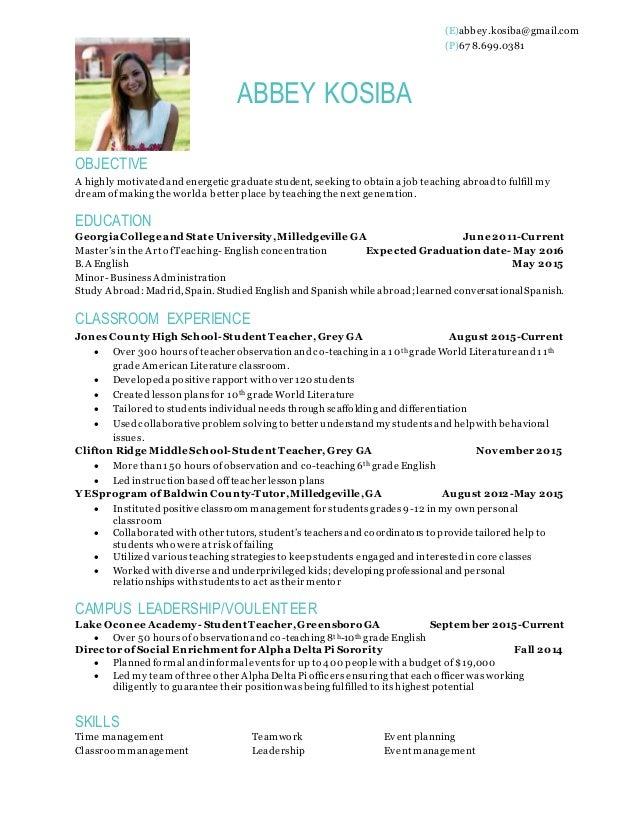 Abbey Kosiba Resume