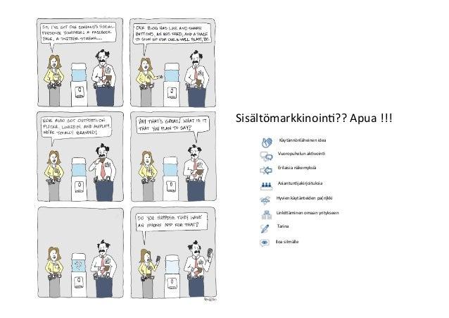 Vesa  Ilola,  vesa.ilola@gmail.com,  050  4060412,  @vesailola   Sisältömarkkinoin>??  Apua  !!!   Käytä...