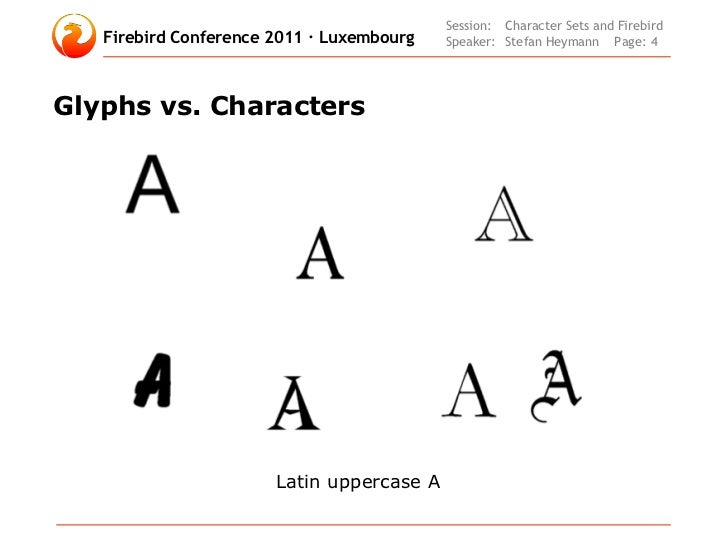 Character Sets And Unicode In Firebird