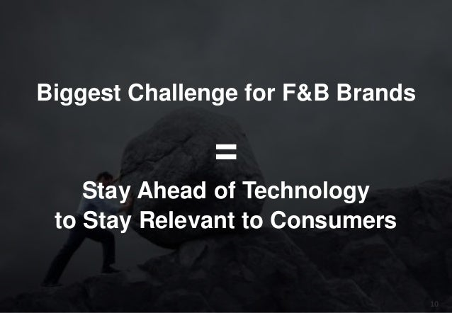 10 Biggest Challenge for F&B Brands = Stay Ahead of Technology to Stay Relevant to Consumers