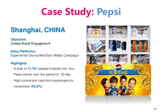 20 Shanghai, CHINA Objective: Create Brand Engagement blinq Platforms: Experiential Stores/WeChat/ Weibo Campaign Highligh...