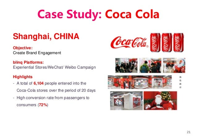 21 Shanghai, CHINA Objective: Create Brand Engagement blinq Platforms: Experiential Stores/WeChat/ Weibo Campaign Highligh...