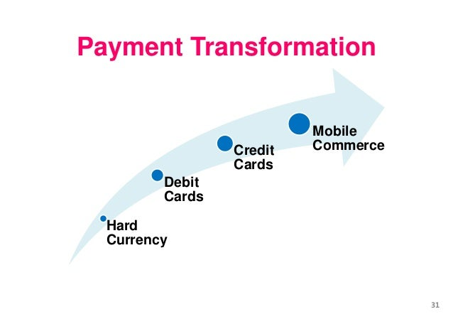 Hard Currency Debit Cards Credit Cards Mobile Commerce Payment Transformation 31