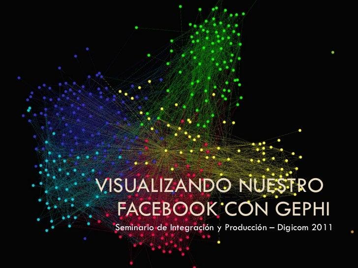 VISUALIZANDO NUESTRO  FACEBOOK CON GEPHI Seminario de Integración y Producción – Digicom 2011