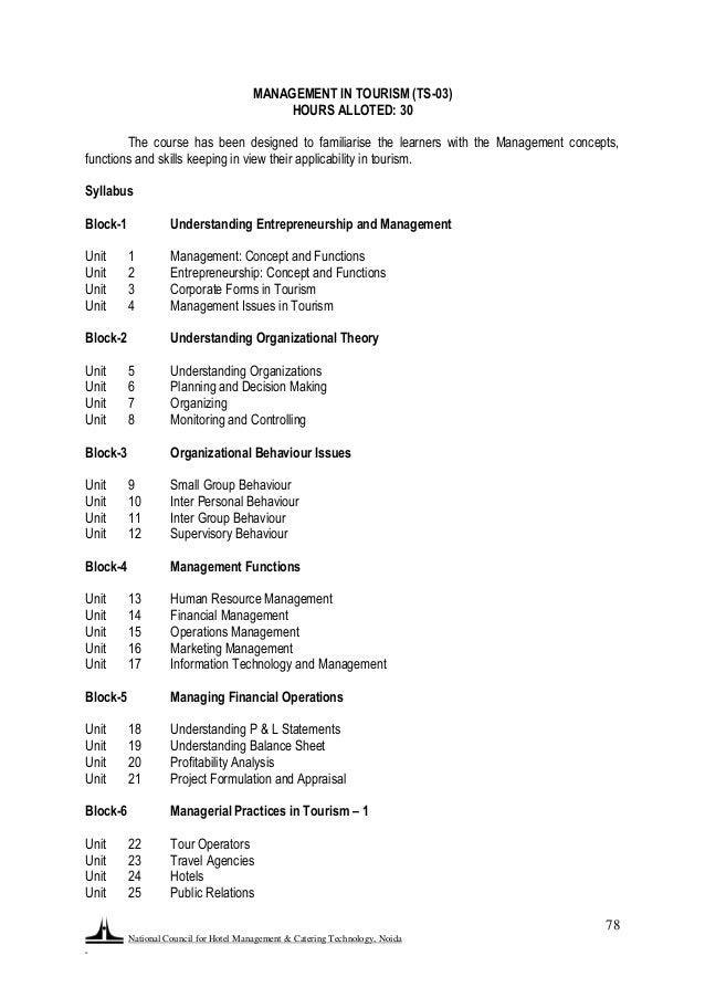 F U0026b Curriculum