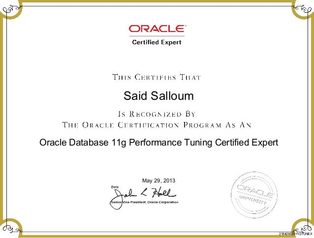 Oracle Database 11g Performance Tuning Certified Expert