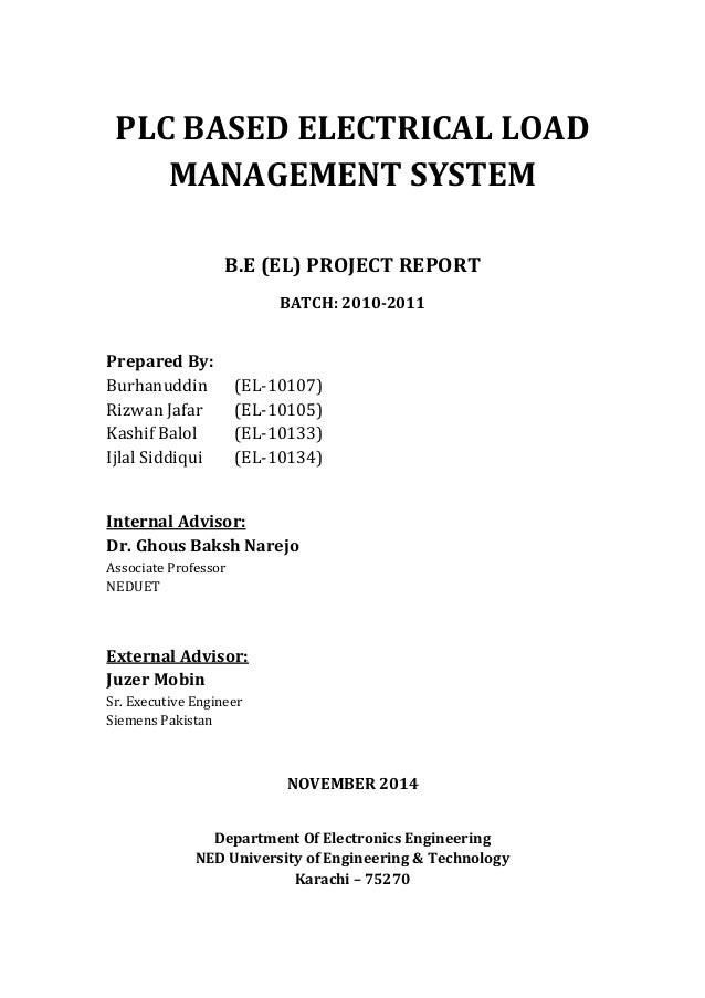 Report - PLC Based Electrical Load Management System