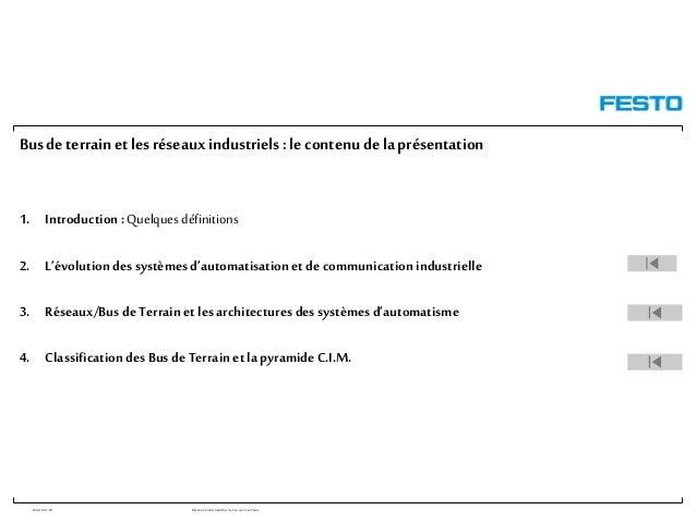 WGOM/F-FR RéseauxIndustriels/BusdeTerrain1èrePartie Busde terrain et lesréseauxindustriels :le contenu dela présentation 1...