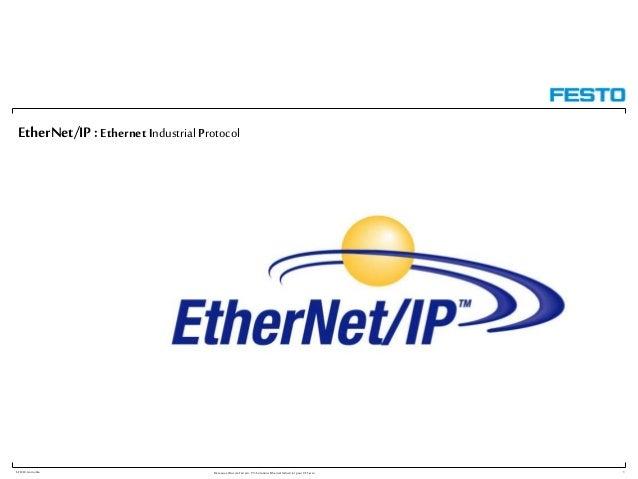 F-FR/W.Gomolka RéseauxetBusdeTerrain: P3: SolutionsEthernetIndustriel pourVT Festo EtherNet/IP :Ethernet Industrial Protoc...
