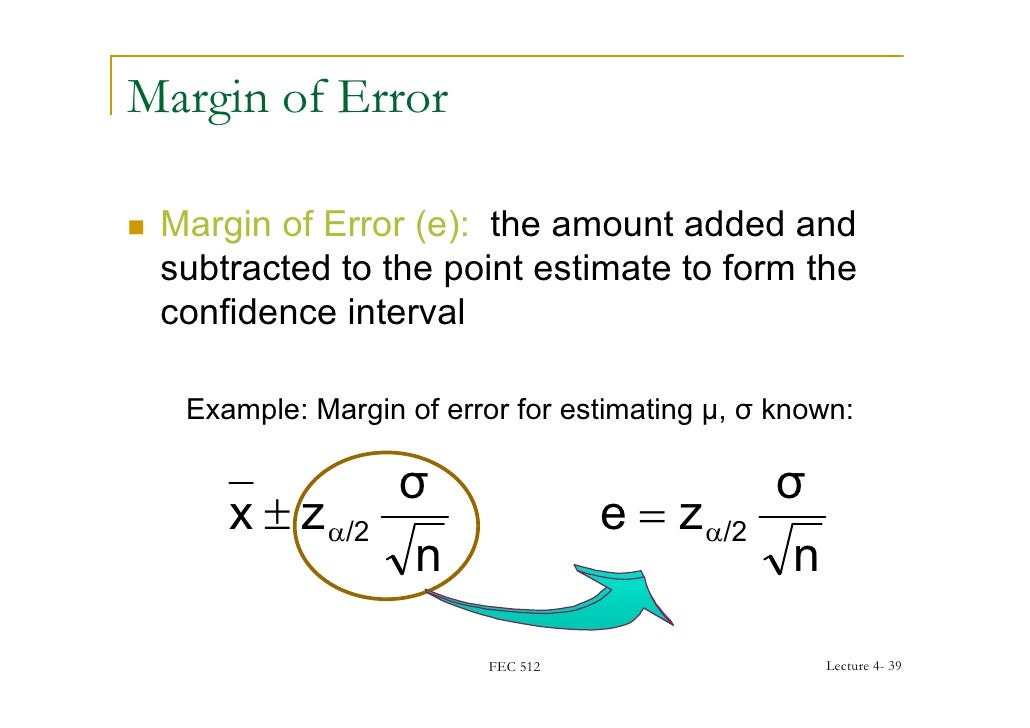 how to find margin of error given confidence interval