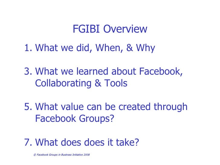 Facebook Groups in Business Investigation- First Findings Slide 2