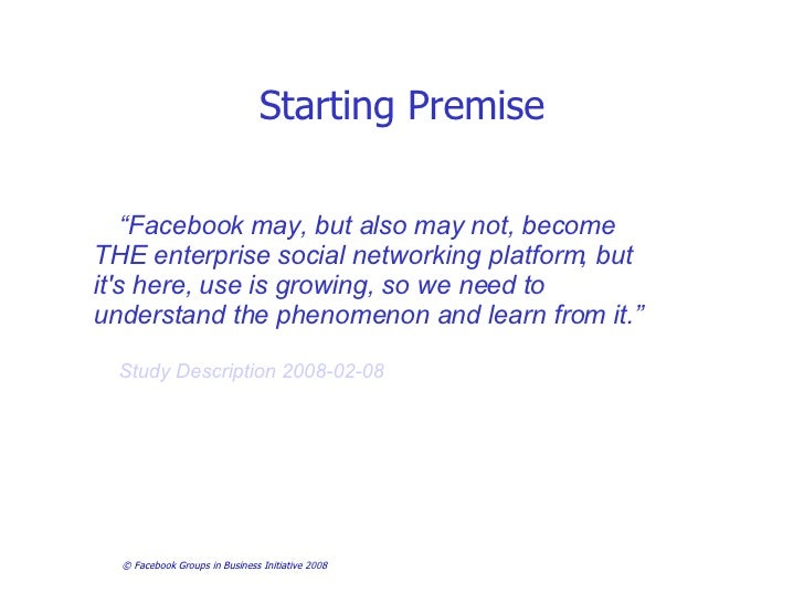 Facebook Groups in Business Investigation- First Findings Slide 3