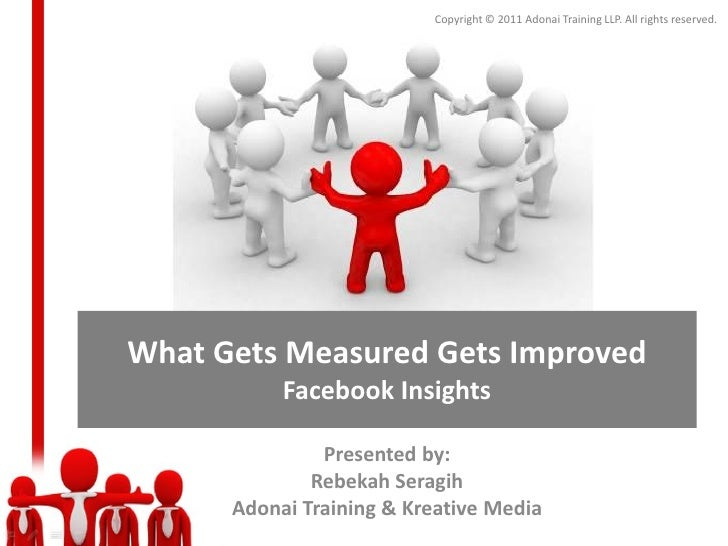 Copyright © 2011 Adonai Training LLP. All rights reserved.What Gets Measured Gets Improved           Facebook Insights    ...