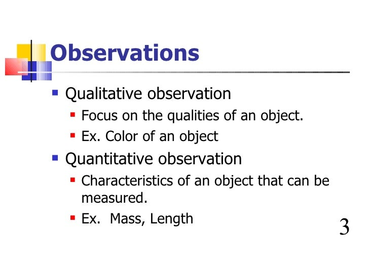 Biology Scientific Method Qualitative Data Biology