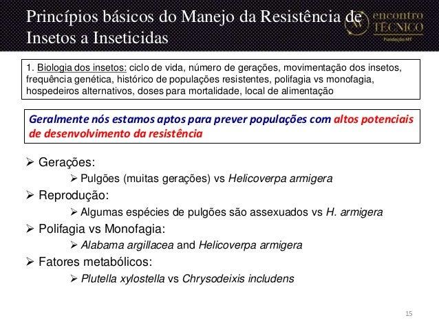  Gerações:  Pulgões (muitas gerações) vs Helicoverpa armigera  Reprodução:  Algumas espécies de pulgões são assexuados...