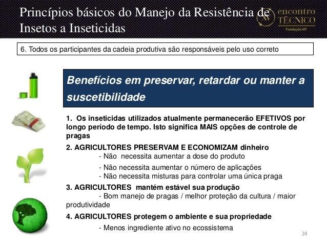 1. Os inseticidas utilizados atualmente permanecerão EFETIVOS por longo período de tempo. Isto significa MAIS opções de co...