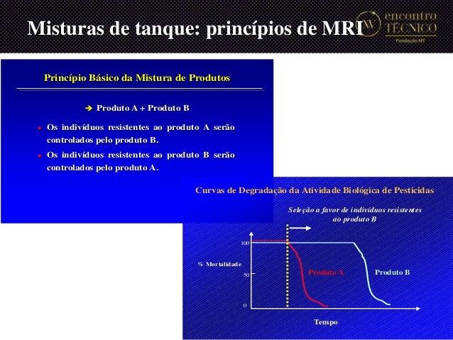 Misturas de tanque: princípios de MRI 29 Princípio Básico da Mistura de Produtos  Os indivíduos resistentes ao produto A ...