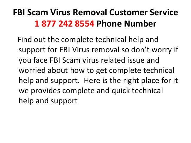 Fbi scam virus removal 1 844 282 6955 customer service phone number