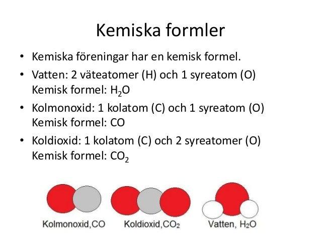 kemiska formler kemi