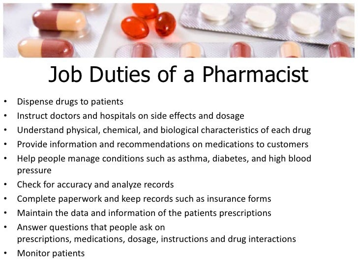 6 job duties of a pharmacist - Pharmacist Duties