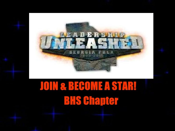 JOIN & BECOME A STAR! BHS Chapter