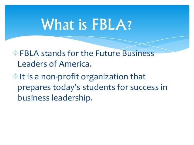 Fbla business presentation guidelines for high school