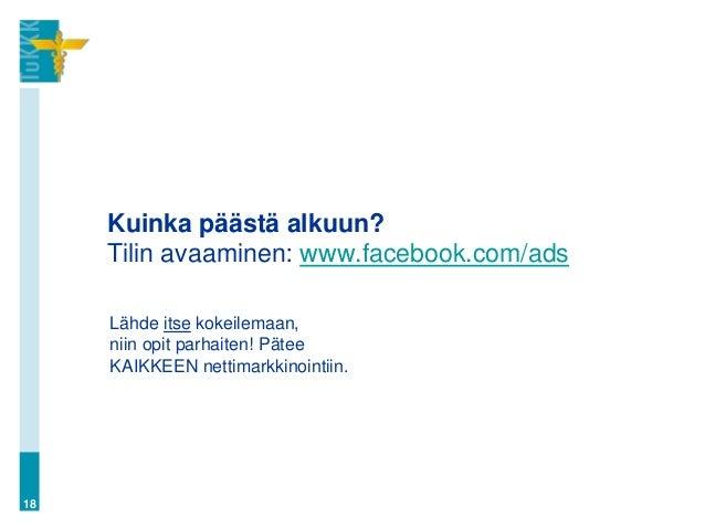 facebook tilin luominen Jyvaskyla
