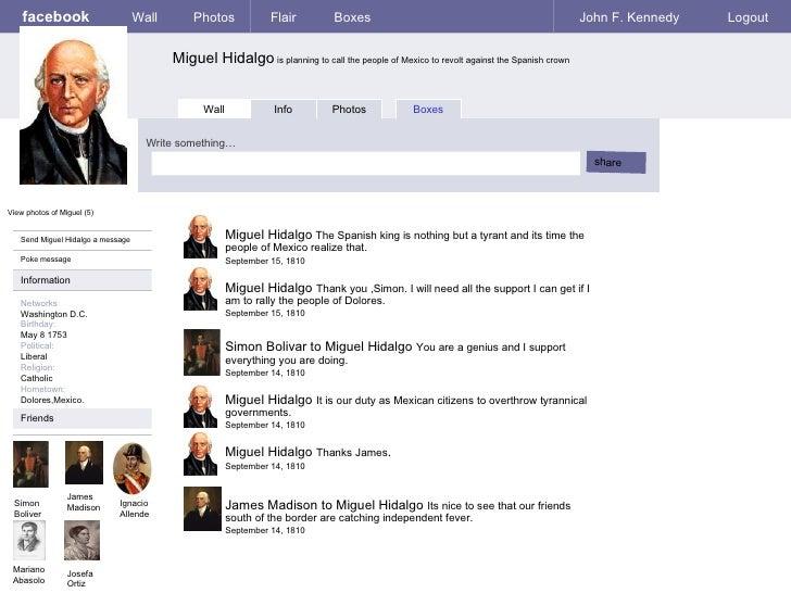 if miguel hidalgo had facebook by colin