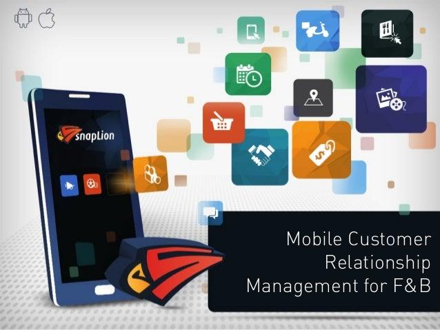 Mobile Customer  Relationship  Management for F&B