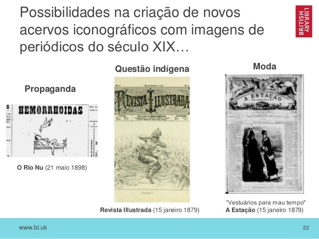 www.bl.uk 22 Possibilidades na criação de novos acervos iconográficos com imagens de periódicos do século XIX… O Rio Nu (2...