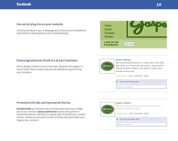 10Use social plug-Ins on your website                                   Home                                              ...