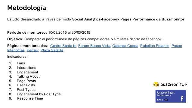 Fb pages performance Centros Comerciales en México Slide 2