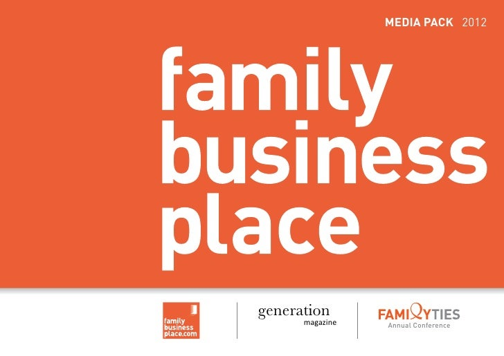 MEDIA PACK 2012generation      magazine   Annual Conference