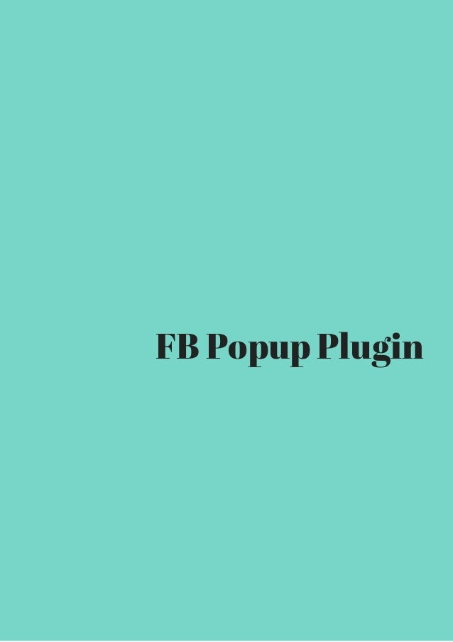 FB Popup Plugin