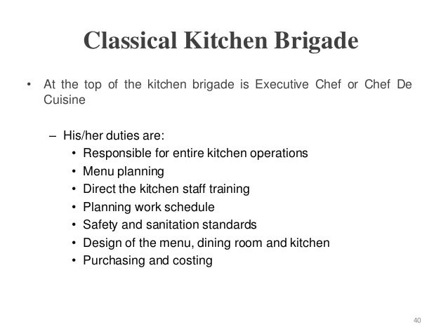 Restaurant Kitchen Operations hospitality food & beverage service