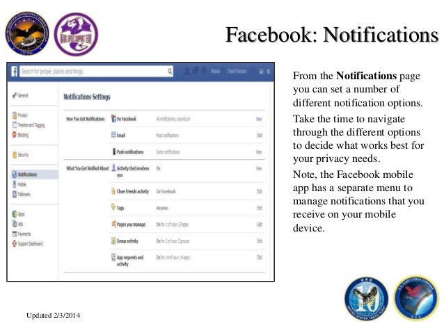 Facebook Privacy and Account Settings - Navy OPSEC