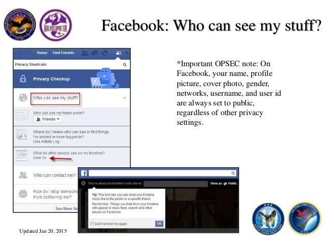 FB Privacy Settings Jan 2015