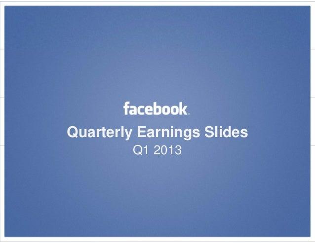 Quarterly Earnings SlidesQ1 2013