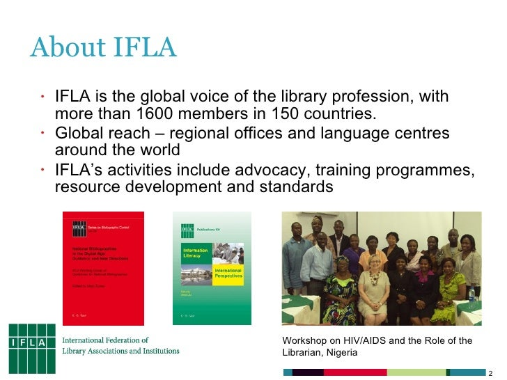 IFLA, Libraries on the Agenda, and social media Slide 2