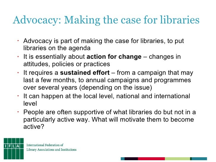 IFLA, Libraries on the Agenda, and social media Slide 3