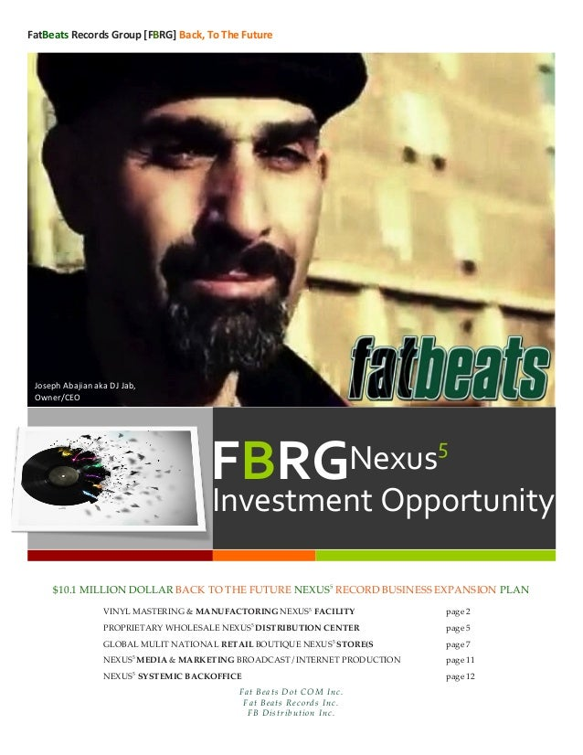 FatBeats Records Group [FBRG] Back, To The Future   $10.1 MILLION DOLLAR BACK TO THE FUTURE NEXUS5REC...