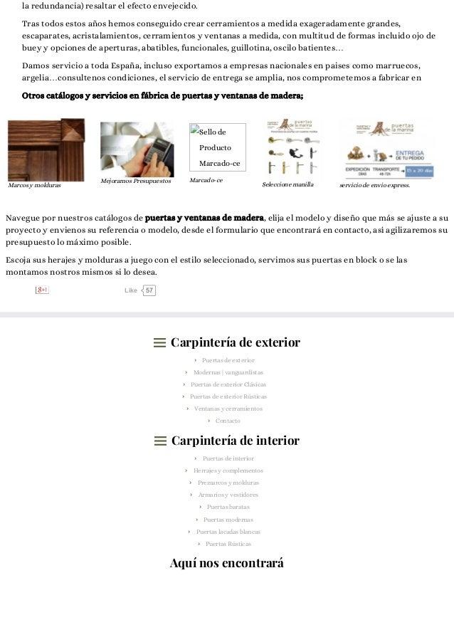 Puertas lacadas blancas f brica de puertas y ventanas for Fabrica de puertas y ventanas de madera